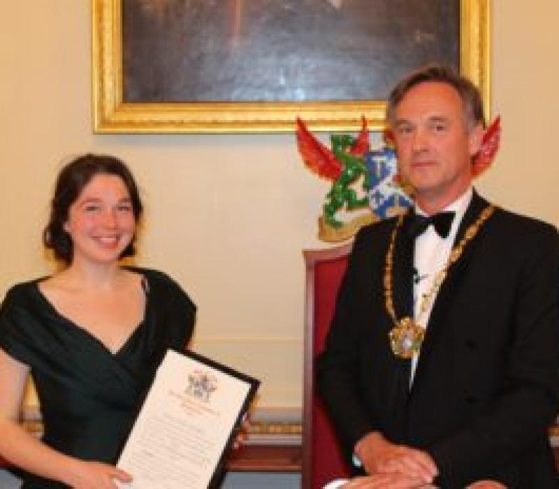 Esme Walker receives Freedom of the Plaisterers' Company