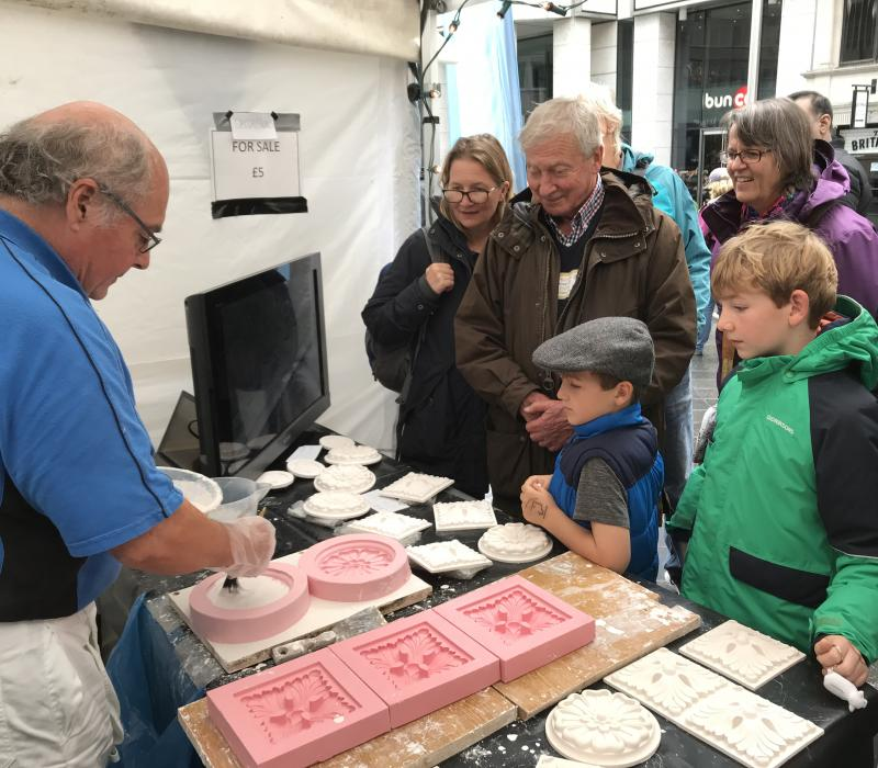 Plaisterers' demonstrate craft skills at annual Wool Fair